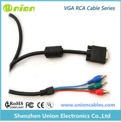 Hot Sell,High Quality ,Vga Rca Male To Male 15 Pin Cable