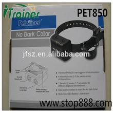 Hot sale!! rechargeable anti-bark dog collar, adjustable agility, with shock and vibra bark control collar