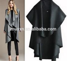 venta al por mayor más nuevo otoño dama de la moda las mujeres elegantes capa de lana poncho escudo