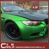 High quality matte green galaxy chrome vinyl car wrap