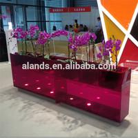 Jinan cast decorative translucent acrylic grass panels