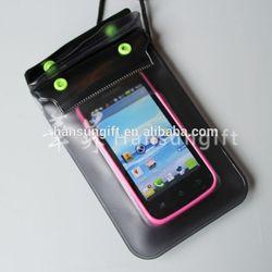 hot sale clear transparent pvc mobile phone bag