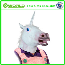 China Manufacturer Full Head Cute Animal Latex Unicorn Mask