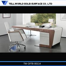 Hot ! western modern design L-shaped executive office furniture executive office desk set