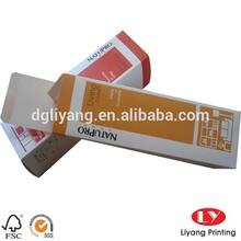 Matte folding cosmetic paper box template
