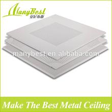 Fireproof metal ceiling tile lay in