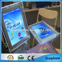 A2 a3 a4 tamanho transparente de acrílico quadro de dupla face foto