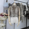 Fashion Cheap Ladies Rabbit Fur Vest Made In China Fur Jacket