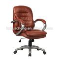 /de pvc de la pu moderno del eslabón giratorio cromo respaldo para silla de oficina hc-a011m