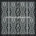 Maroc style, noir et blanc motif jacquard textile