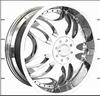 matte silver and bright silver alloy wheel