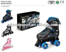 Full aluminum chassis inline speed skate,adjustable half soft roller inline skate ABEC-5 carbon