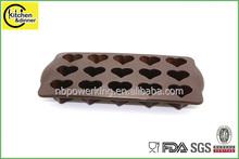 Heart shape flexible sugar craft decorative Silicone chocolate mold