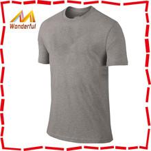 100% cotton O-neck charcoal bulk blank t-shirts with ribbing collar wholesale t-shirts supplier t-shirt men popular design