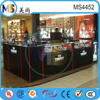 Lighted jewelry furniture has beautiful watch store interior design with equipment for jewelry shop