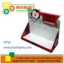 Display de papelão/papelão contador/contador zq-b-009