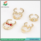 2014 latest ladies gold finger ring design for women with price
