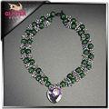 Collar de perlas de diseños para la mujer, colorido y de jade collar de plata con collar de perlas reales precio