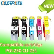 compatible ink cartridge PGI250 CLI251 for Canon PGI250 for Canon PIXMA ip 7220/Pixma MG5420 MG6320/Canon PIXMA MX922