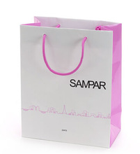 Custom logo print new luxury shopping paper bag with rope handle