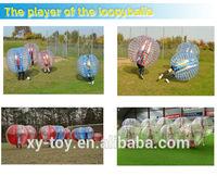 Funs bumping clear plastic bubble, crazy football,transparent inflatable plastic bubble
