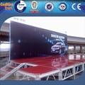 Madera contrachapada 1.22*1.22 marco de aluminio escenario móvil
