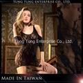 taiwan sexy mulheres mangas a três quartos vestido de renda