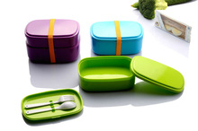 New style 2layers of plastic lunch box