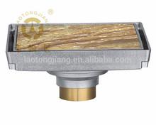 big size 15*15cm square model brass floor drain