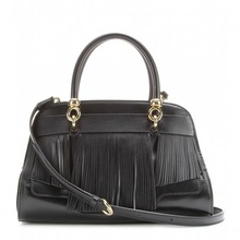 100% genuine leather handbags fringe bag ladies leather cosmetic bag
