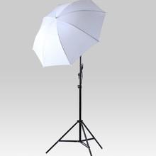 NEW PHOTOGRAPHIC EQUIPMENT lighting kit 85 cm Reflective lambency white umbrella Lamp Bulb Holder E27 Socket 7ft. 2m light stand