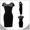 Classical design black ladies official short bandage formal dress