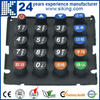 colourful silicon keypad/silicone button rubber keypad