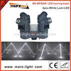 LED mini moving head 4pcs 10W white Lumi / led moving beam head /dj lights
