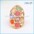 Anillo de yiwu, colorido piedra del anillo, la india de lujo de estilo top anillo de la joyería de moda