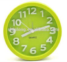 2014 Hot sale plastic desk alarm clock for promotional use