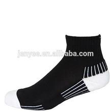 Custom logo rainforced heel and toes bamboo men sport socks