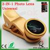 Camera accessory 3 in 1 lens fisheye for samsung galaxy s4 mini
