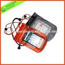 2015 PVC bag/ Promotional pvc waterproof bag/ PVC waterproof zip lock bag for mobile phone