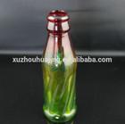 green glass drink bottle or juice glass bottle or soda glass bottle