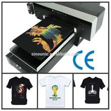 custom size digital white and black tee shirts and t shirts wholesale printing machine