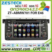 ZESTECH capacitive screen android 4.4.4 car audio for BMW E46 car gps navigation MCU 1.6G dual core 1GB 3g wifi OBD2