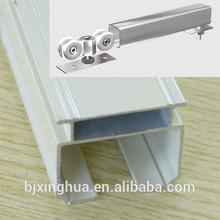 Anodized Aluminum Profiles Rails for sliding doors windows wardrobe