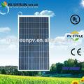 الصف الأول bluesun 100w 18v بولي الخلايا الشمسية للبيع
