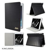 hnh case for ipad manufacturer crocodile pu leather tablet case