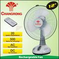 nuevo diseño de ventilador de mesa recargable electrodomésticos con la luz