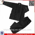 arte marcial ropa de color negro de flores de tela personalizadas hapkido uniformes