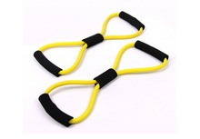 Resistance Training Bands Rope Tube Workout Exerciser Yoga 8 Type Body Fitness