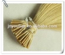 Top quality!!! color 27# I tip shape pre bond 100% virgin European hair keratin hair extensions