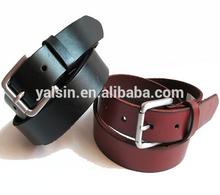 bgr1625 wholesale pin buckle top quality cow leather plain belt men.man leather belt